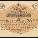 Specimen 20 Piastres Banknote 1917 Turkey Ottoman Empire Collection No.46 Front